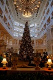 Grand Floridian lobby and Christmas tree