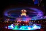 Dumbo spinning at night