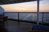 Sunset and beautiful balcony