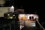 Westerdam topside deck at night