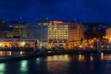 Old San Juan harborside at night