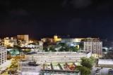 Old San Juan and Castillo San Cristobal, night