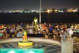 Deck party and San Juan city lights