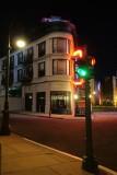 New York street corner, night
