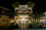 Adventureland building, night