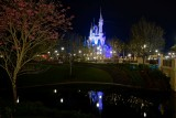 Castle across the river, night