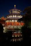 China temple at night