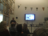 Me holding a lecture about birding on Corvo/Azores for UOF members.