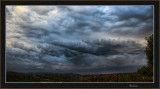 Storm front passing