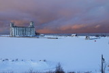 Wintery Evening on Collingwood Harbour Dec 16, 2013