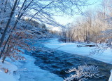 Snowshoeing along the Beaver River near Clarksburg - Jan 14, 2015