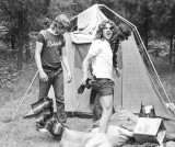Bill Cox, Steve Jones and Eric Bristow - Camping