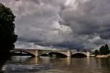 High tide at the bridge.