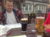 Pete contemplates a pint of Guiness