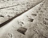 Tracks, Ties, Sand, Yuma, AZ