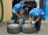 Inflating tyres