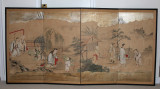 108 Antique Japanese painting screen, Kano School, 1820 日本狩野派古画