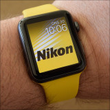 Apple Watch with Nikon face