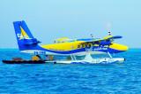 At airport. Trans Maldivian 8Q-TME