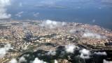 Lisbon From Air High Altitude