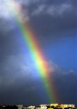 Rainbow Falling in Lisbon