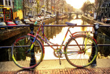 A Bicycle At Sunrise In The Cannals