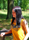 Dazzling Brunette Student