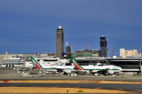 Narita Terminal 2 With 2 Alitalia B-777