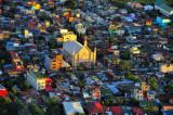 Manila Suburban Church At Sunset