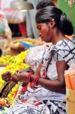 Making Flower Necklaces: A Dangerous Profession!