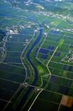 Ibaraki River and Rice Fields
