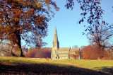 A Church In The Woods In Autumn