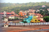 Colourful Military Residences Outside Airport