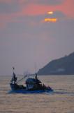 Going Fishing At Sunset