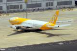 SCOOT B-777/200, 9V-OTD, Still From The Air