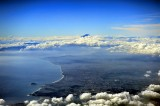 Fuji San and Shizuoka Bay, on Board JAL B-767