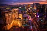 Las Vegas Strip Fiery Twilight