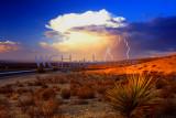 Lightning HWY 15 Road to Las Vegas