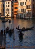 Venezia Grand Canal Gondoliers