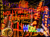 Hollywood Neon Abstract