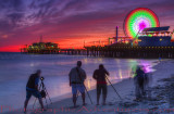 SUNSET TWILIGHT SANTA MONICA PIER
