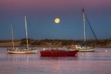 Morro Bay Moonset