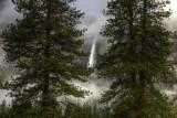 Yosemite Falls Misty Fog
