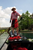 Gondolier on canal