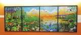 Four Natural Biomes Mosaic Mural by Michael Sweere
