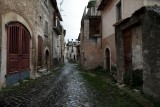 The almost empty streets of San Pio delle Camere