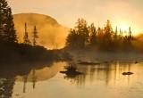40.  A foggy morning at Marshfield Pond, VT.