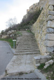 The stairs towards town