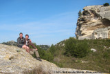 Us, in front of Les Baux