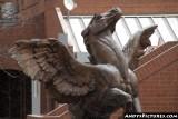 Flying horse sculpture at Larimer Square